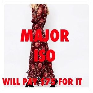 👀ISO👀 A&F Floral Wrap Maxi Dress Size M or L